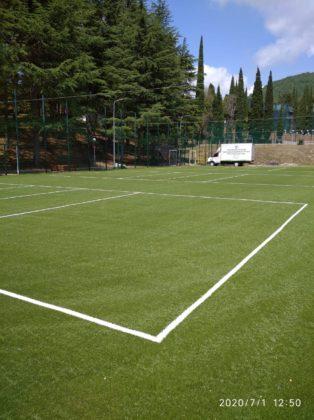Теннисные корты пансионат Ромашка
